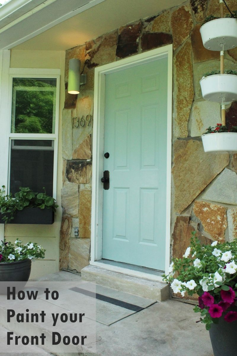 How to paint an exterior door as in shut the front door Outside paint for wood