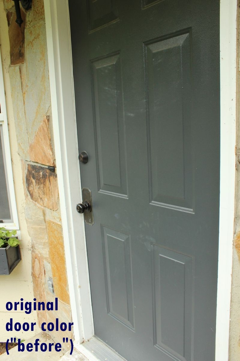 Diy Paint Front Door Before Painting Process