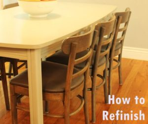 How to Refinish Wooden Dining Chairs  A Step by Step Guide from StartHow to Stain Wood  A Basic Guide. Refinish Wood Kitchen Chairs. Home Design Ideas