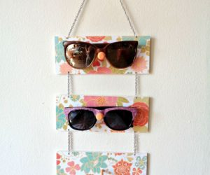 DIY Sunglasses Holder