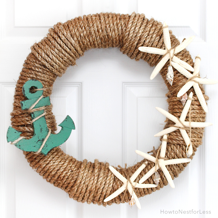 DIY ocean wreath