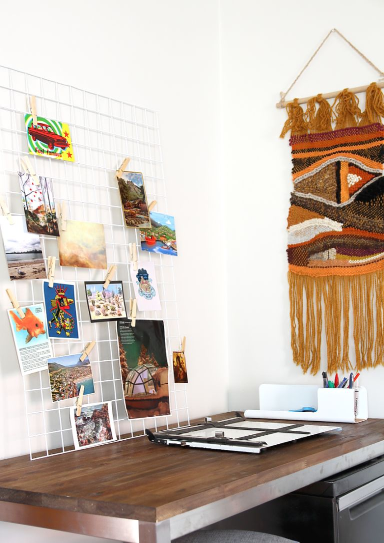 DIY wire pinboard