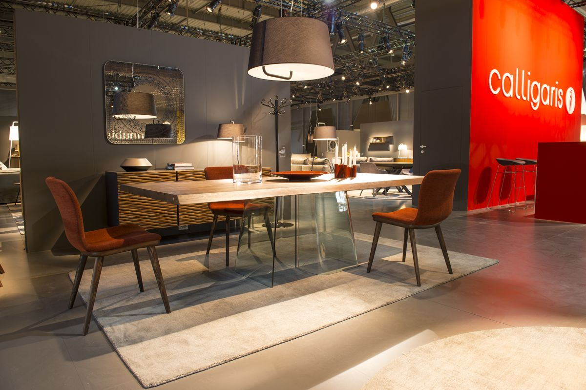 Dining table with Glass Steel from Calligaris