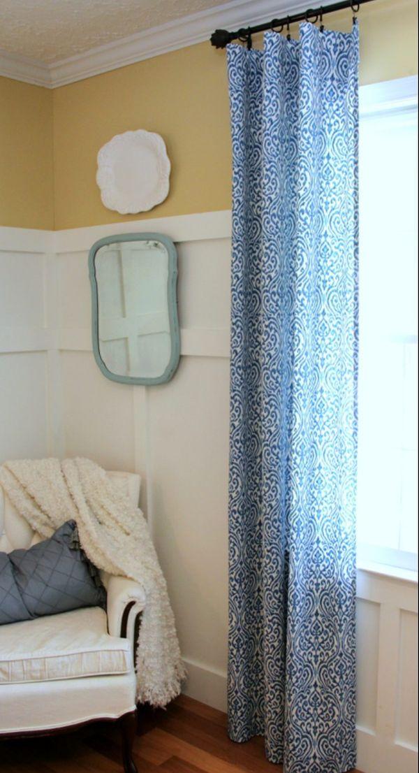 Easy DIY No Sew Curtain Panels 2 Artsy Chicks Rule
