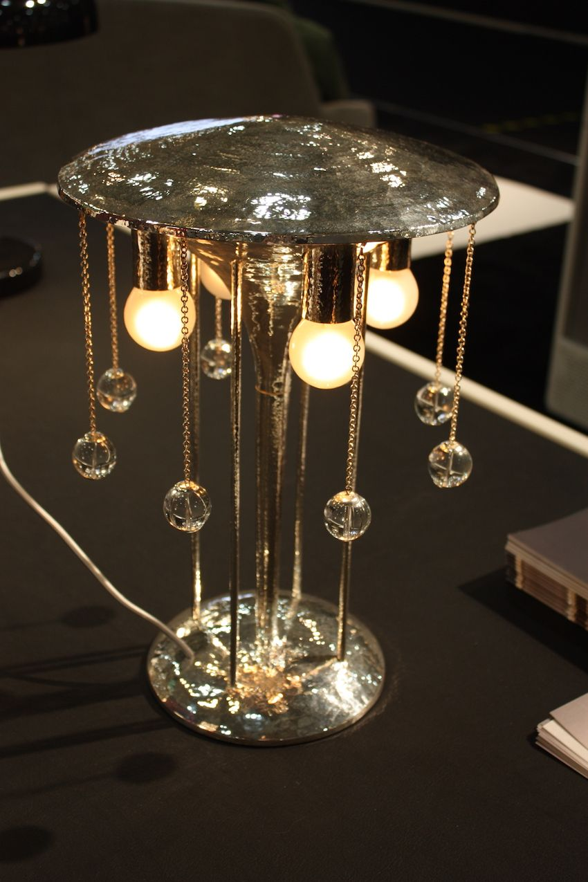 A stunning work of crystal art, this table lamp from Austria was shown in the display featuring work from the country. Eight exciting Austrian design companies presented their latest works in the booth.