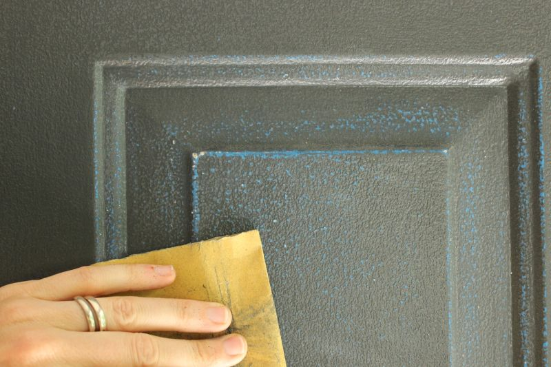 Flat surface sand paper front door
