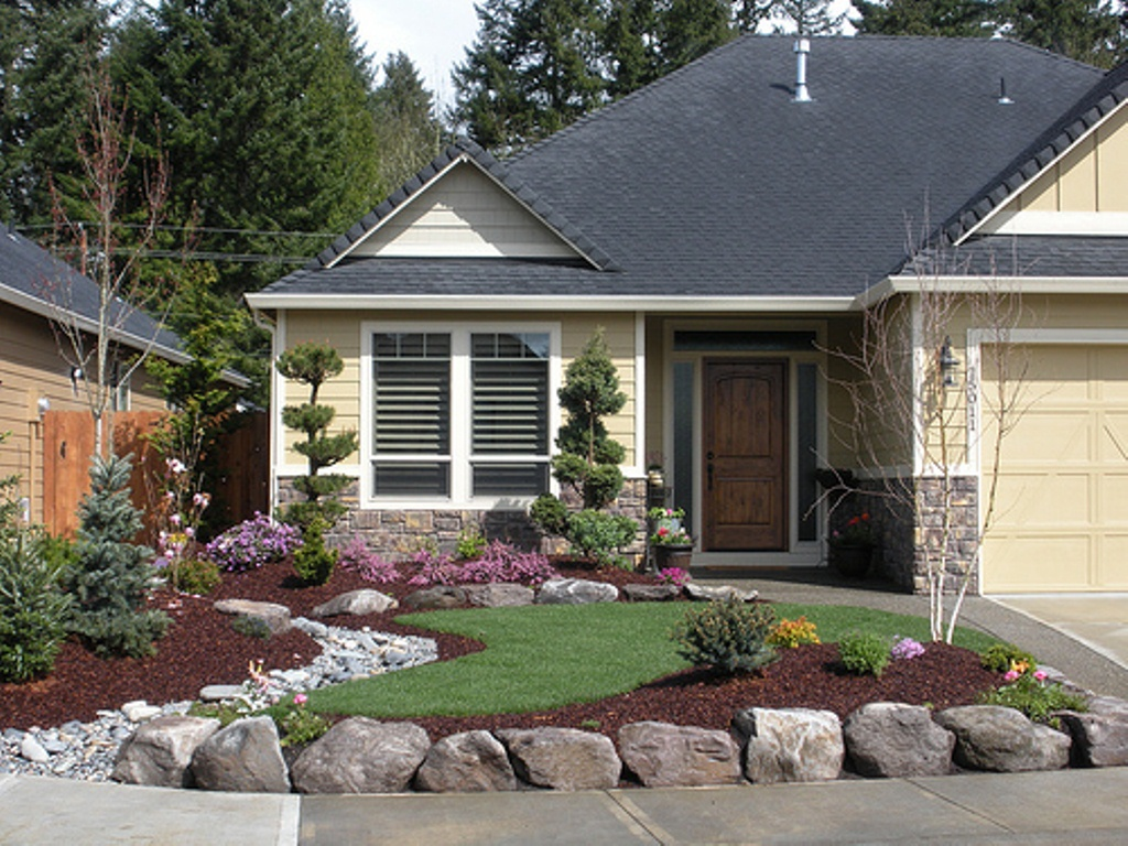 Home landscaping ideas to inspire your own curbside appeal for Home front garden design