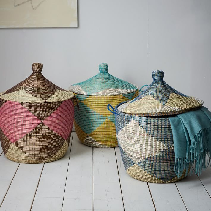 Graphic Printed Oversized Baskets
