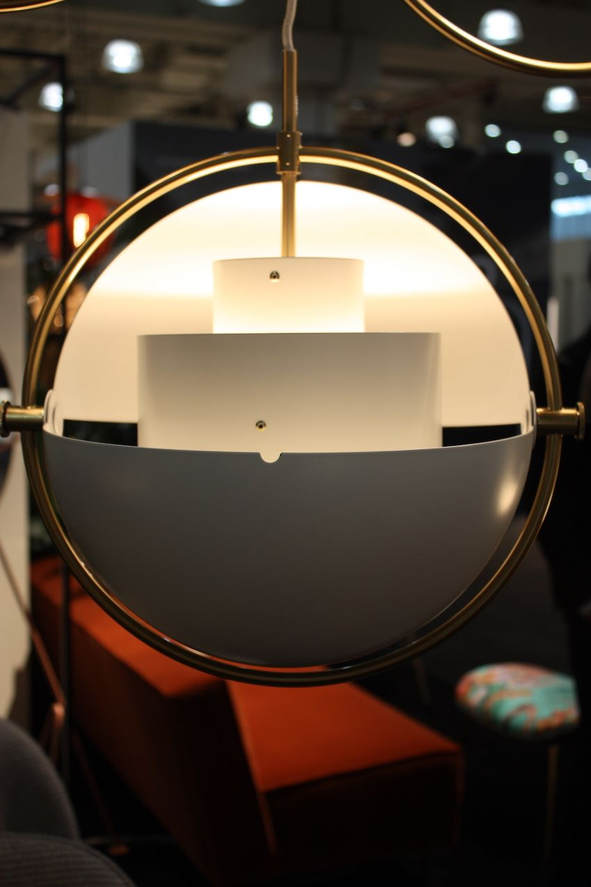 Gubi's Multi Light can be used to point light upward, illuminating the entire space.
