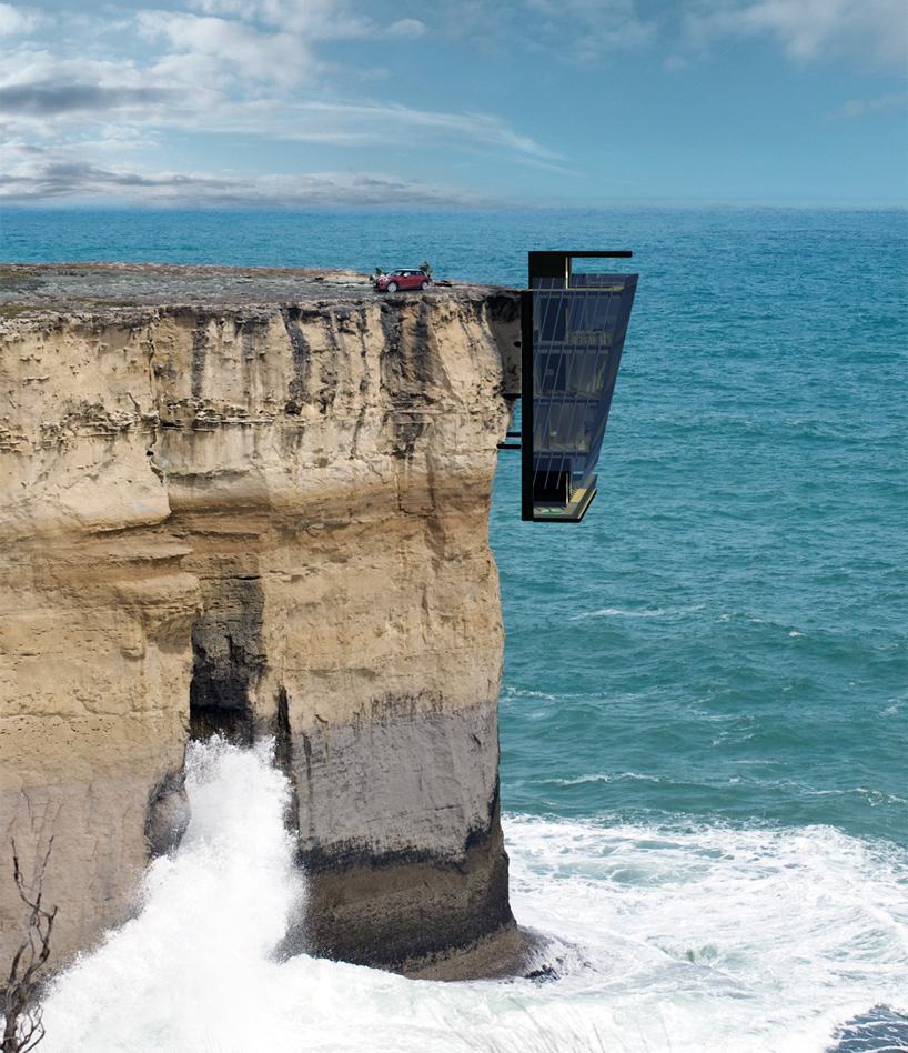挂在悬崖房子上
