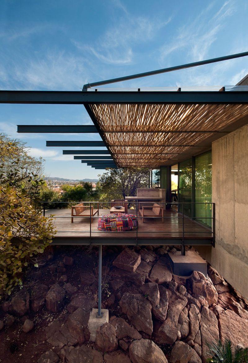 House Gauche wooden deck