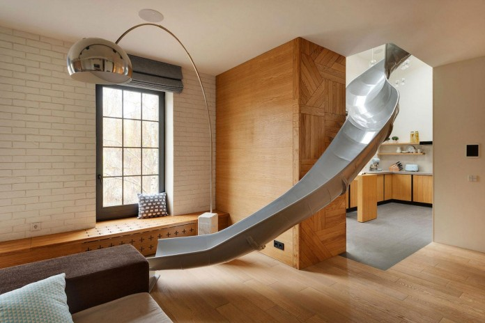 Indoor slide stylish apartment picture