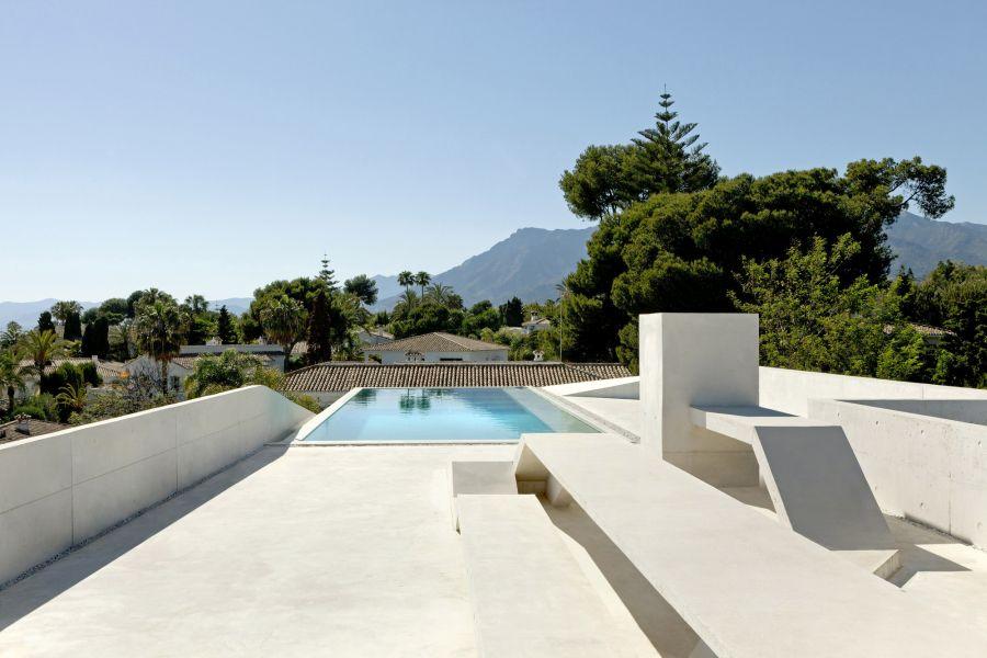 水母房子泳池景观