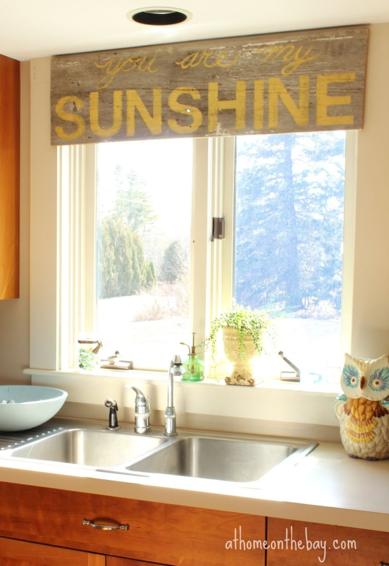 Charming Kitchen Curtains Modern Ideas Part - 10: Kitchen Wooden Piece Used Like Curtain