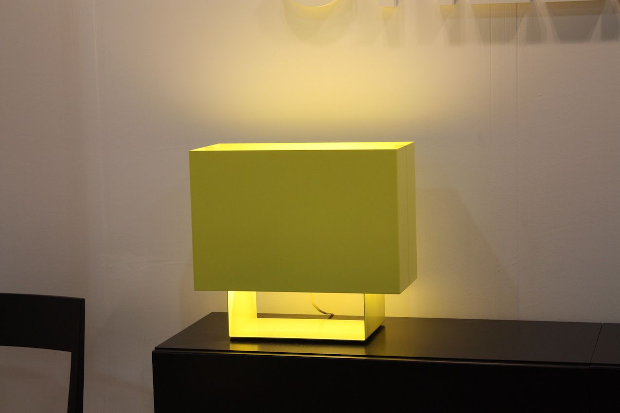 Designed by Mark Holmes in 2003, the LT01 SEAM ONE from Stillfried is a modern reinterpretation of a classic table lamp. The design uses a minimal number of elements and comes in a range of colors. The color you choose --whether a neutral white or a bold neon -- helps determine how much of a bold statement the lamp will make. The entire fixture is made from sheet aluminum that is powder coated.