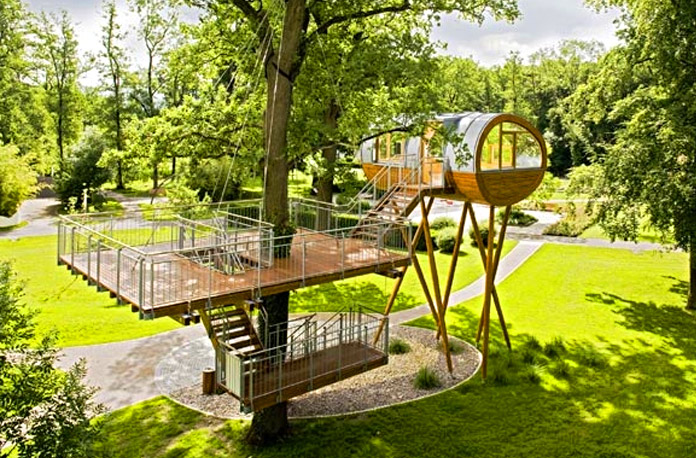 living treehouse design - Most Expensive Tree House In The World
