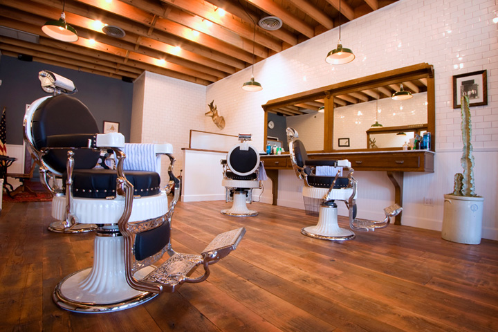 Los Angeles Barber Shop Hardwood Floor