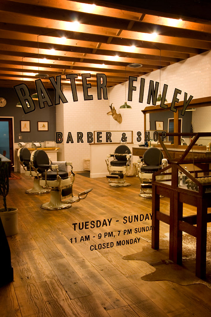 Los Angeles Barber Shop Window