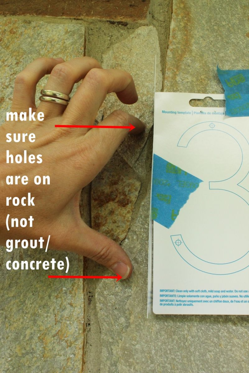 Make sure holes are in rock not concrete