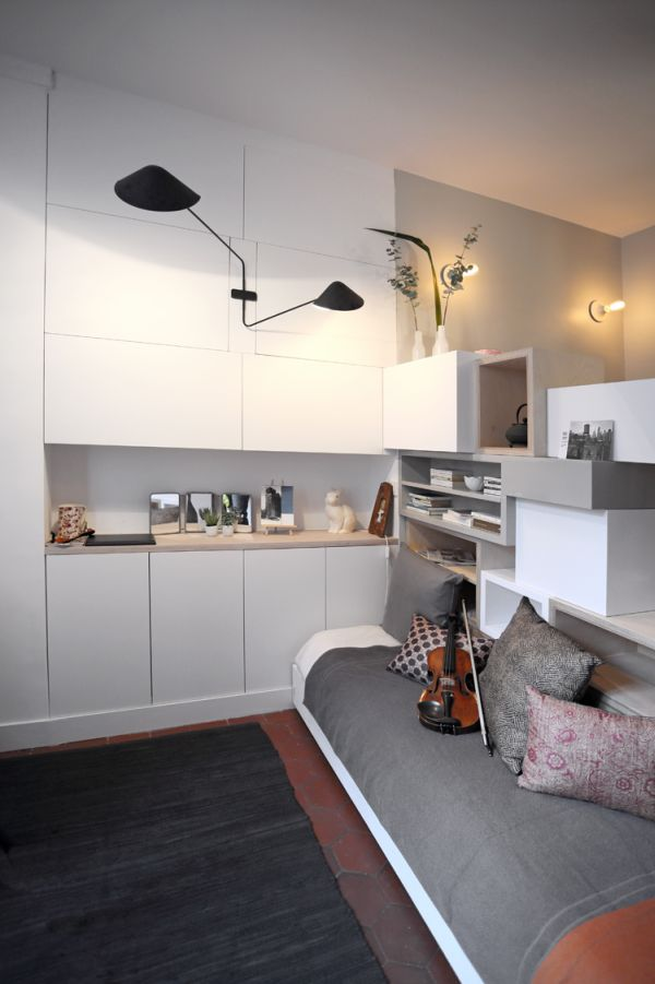 Mini 12sqm studio apartment design couch