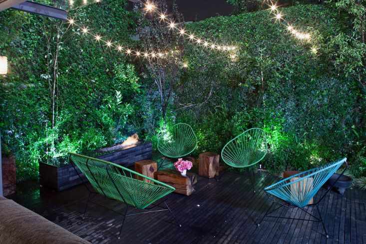Fairy or string lights can be used to give the deck or garden a magical look