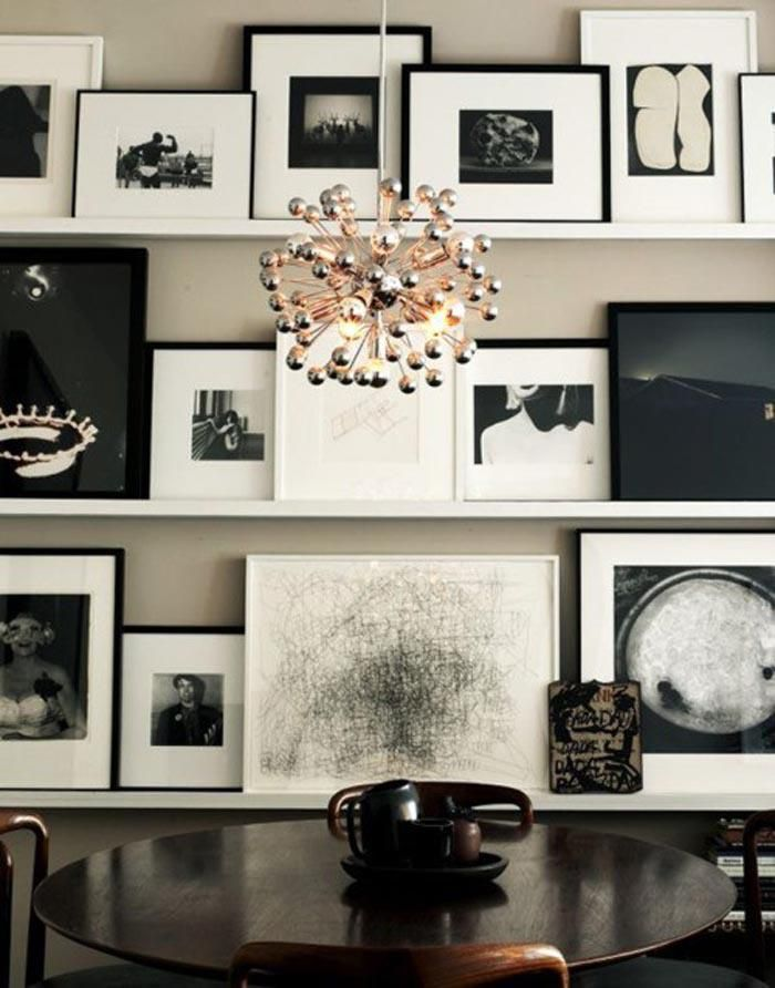 Modern picture ledge wall