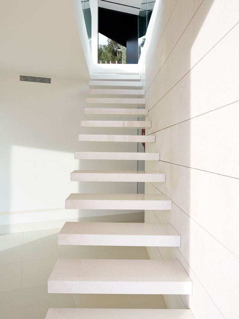 Modern residence in Catalunya floating stairs