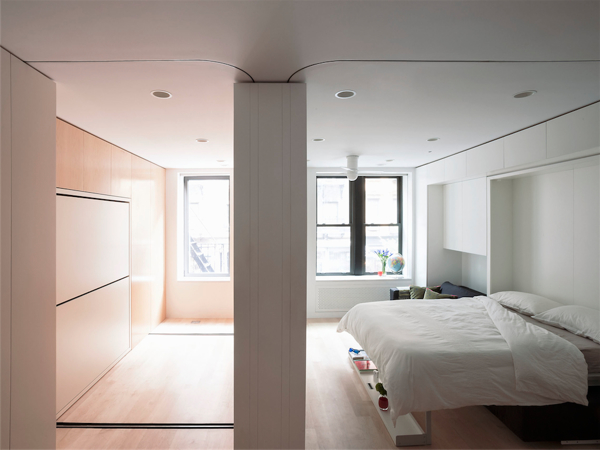 Movable walls NYC Apartment Bedroom