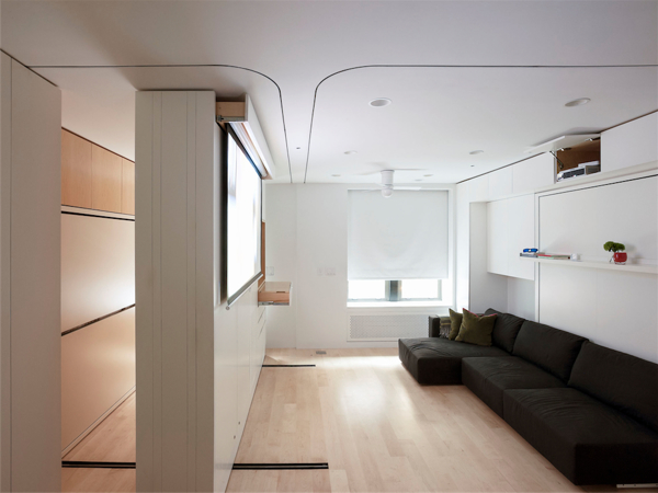 Movable Walls NYC Apartment Retractable