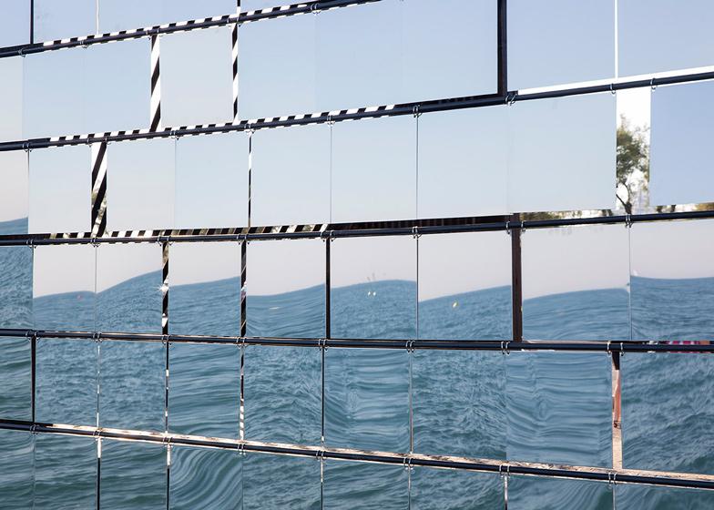 Nas Architecture Breath box seaside pavilion mirror