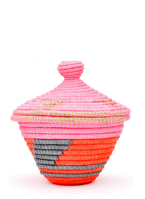 Neon lidded basket