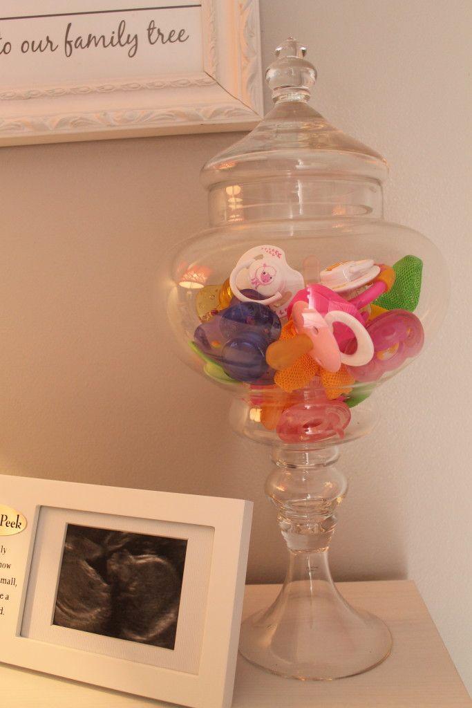 Nursery room decor in apothecary jar