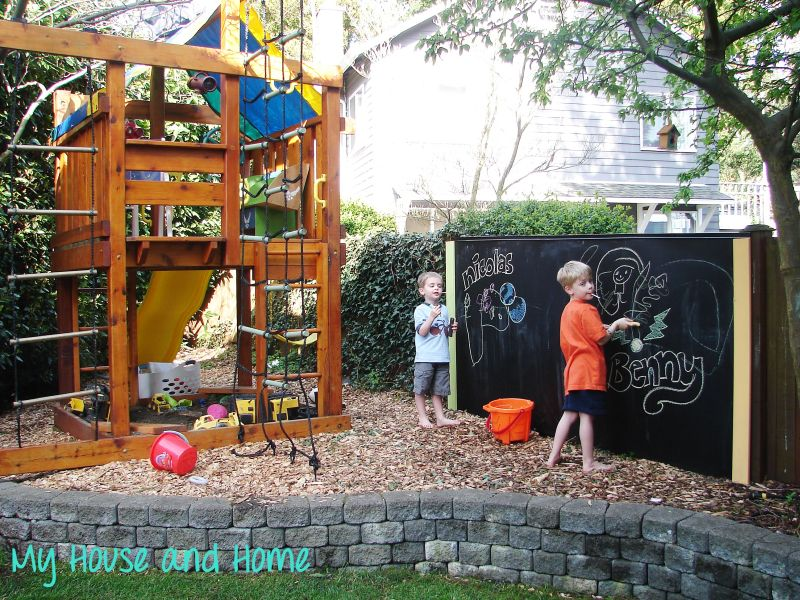 Outdoor Chalkboard Design