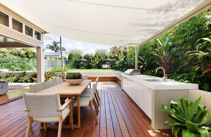 If the deck is large enough, you can even have an outdoor kitchen or a bar