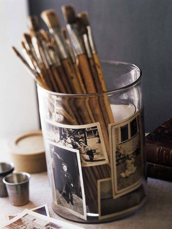 Paint Brushes apothecary jar