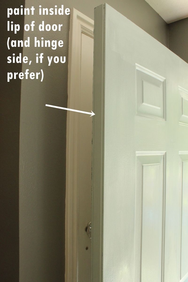 How To Paint An Exterior Door As In Shut The Front Door