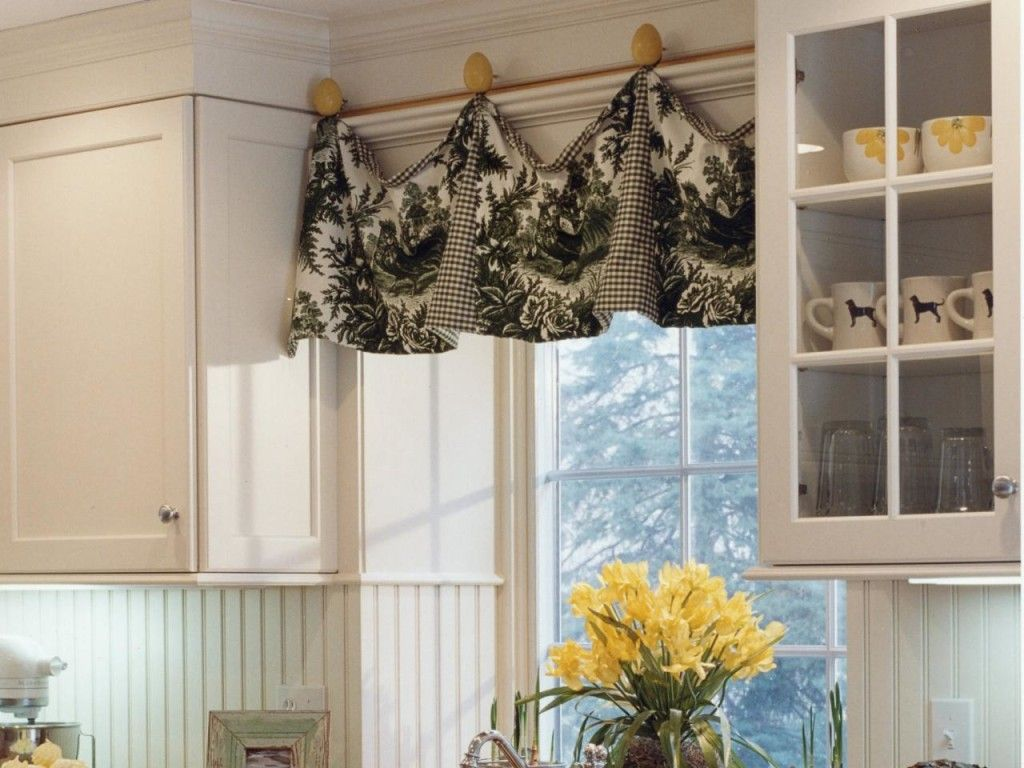 Kinds Of Vintage Floral Curtains - Peekaboo prints kitchen curtain