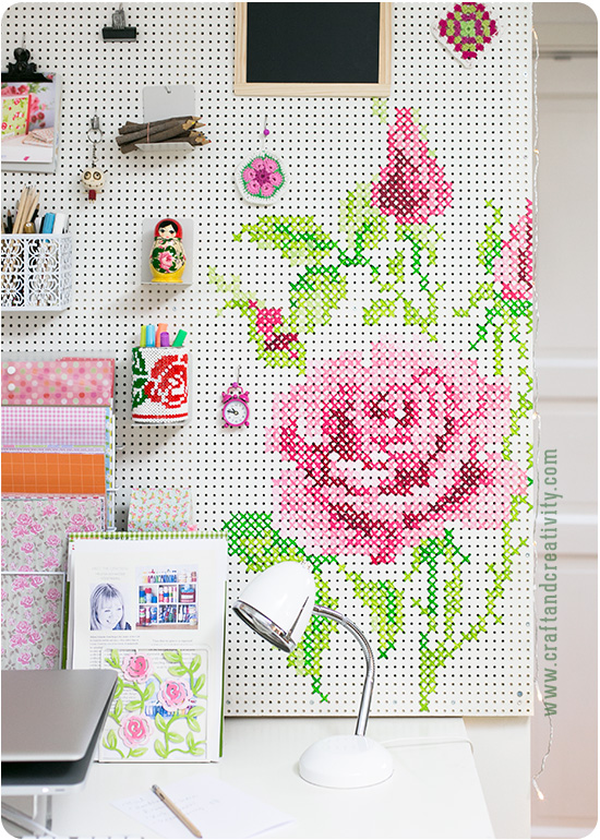 Pegboard cross stitch