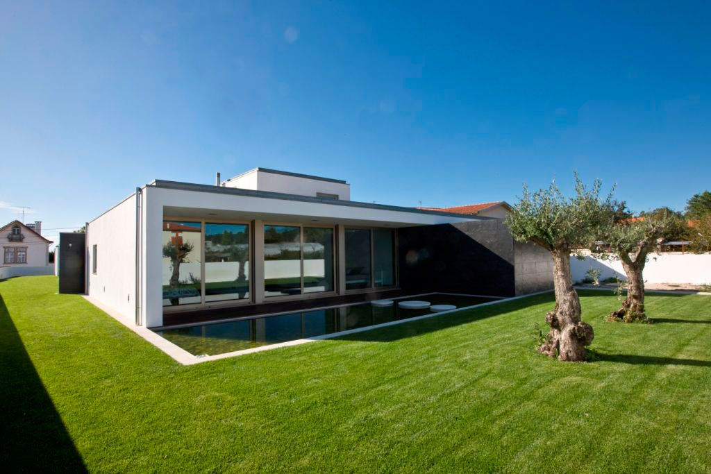 Perfect lawn for a modern residence