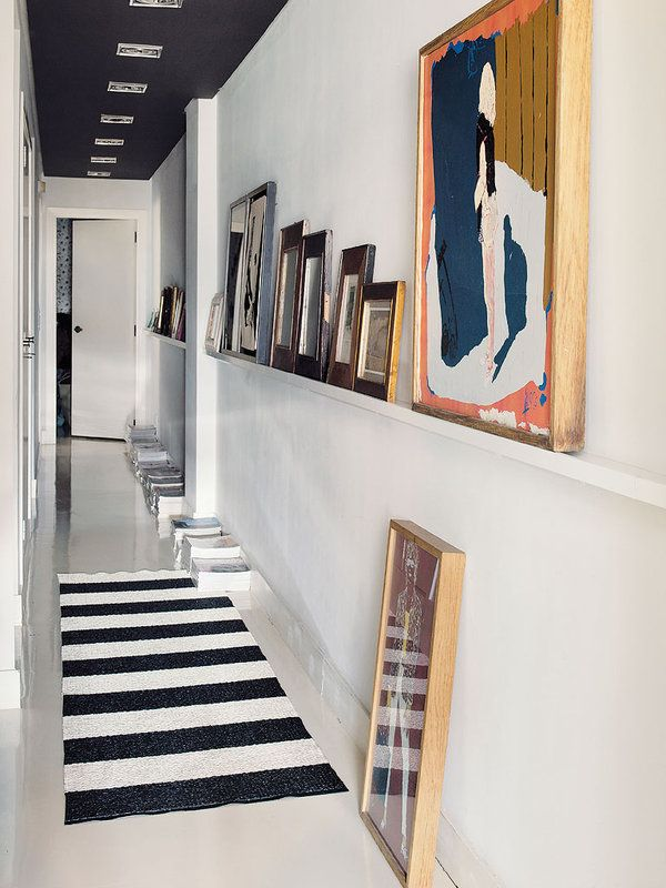 Picture ledge hallway styling