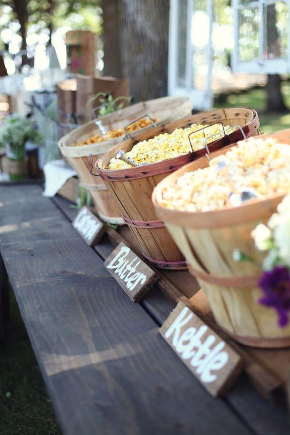 Popcorn bar design