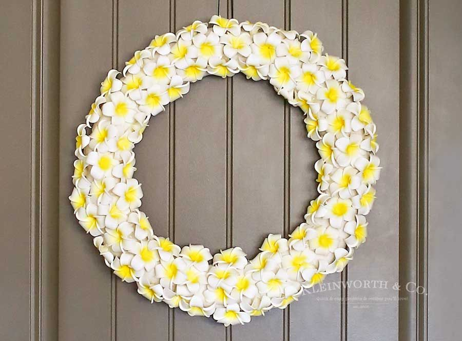 Pulmeria Yellow Wreath