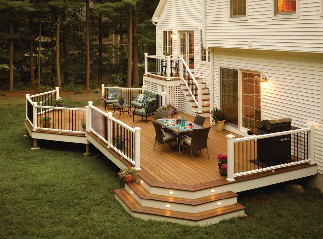 The type of railings used on a deck often change the whole look
