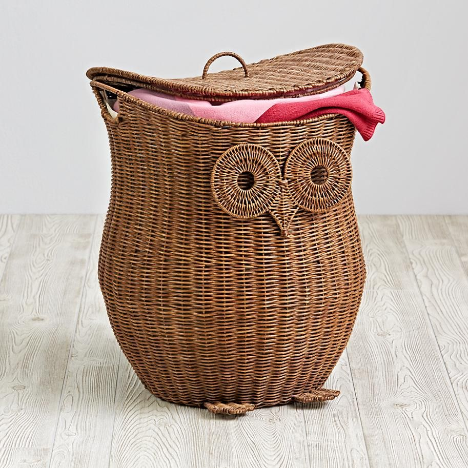 Rattan storage hamper