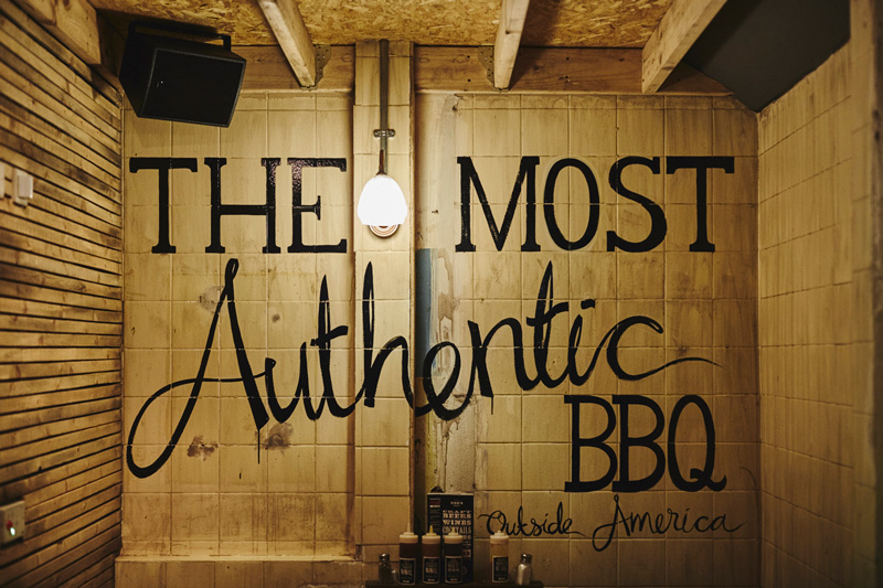 Red's True Barbecue authentic wall writing
