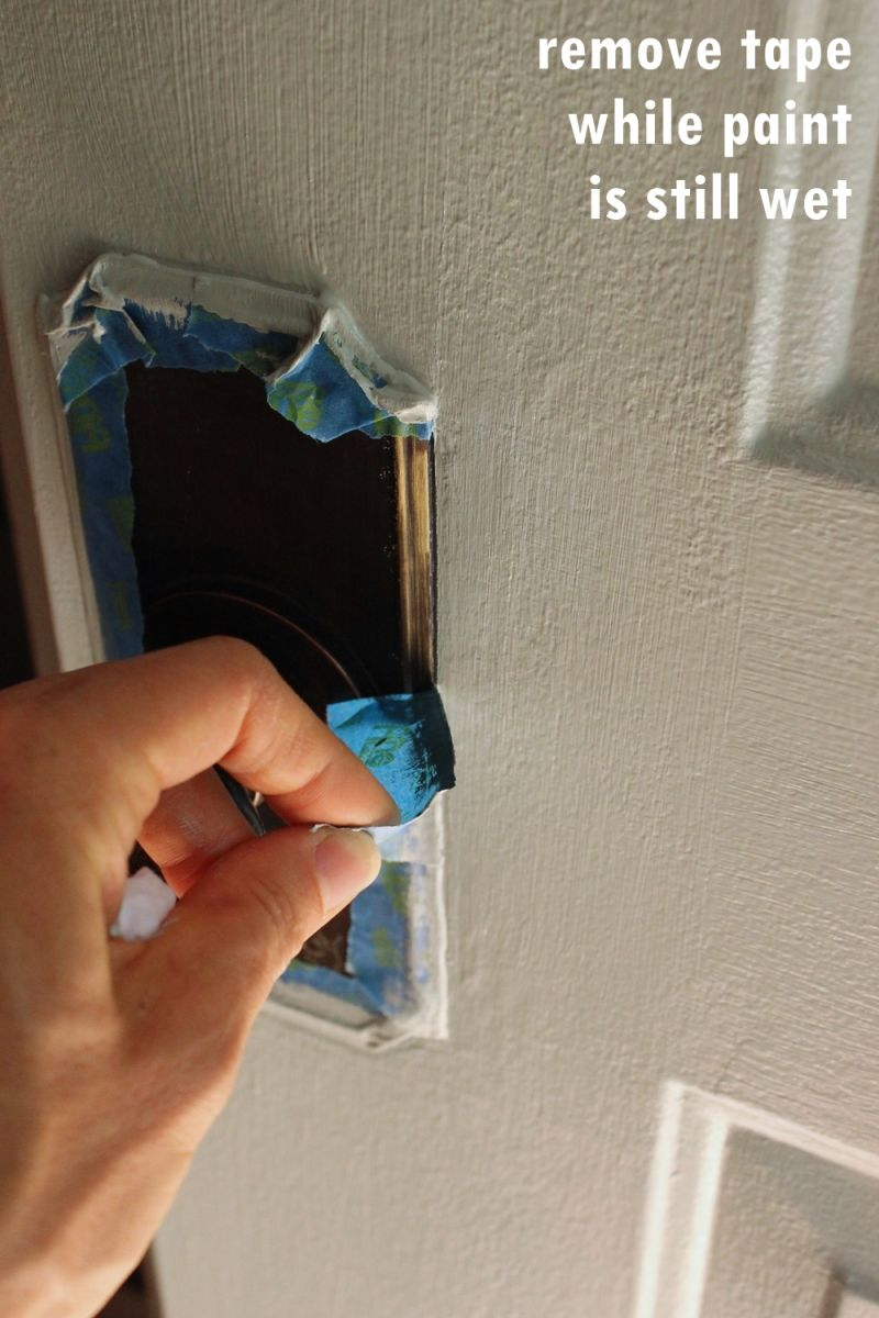 Remove any tape from door carefully