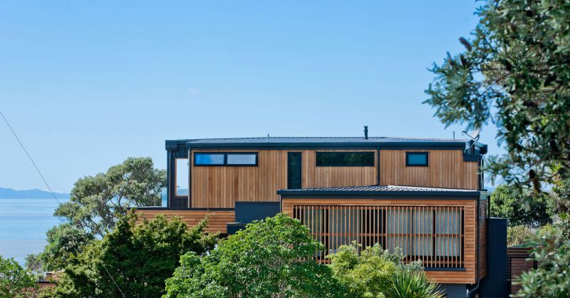 Rothesay Bay house wood cladding