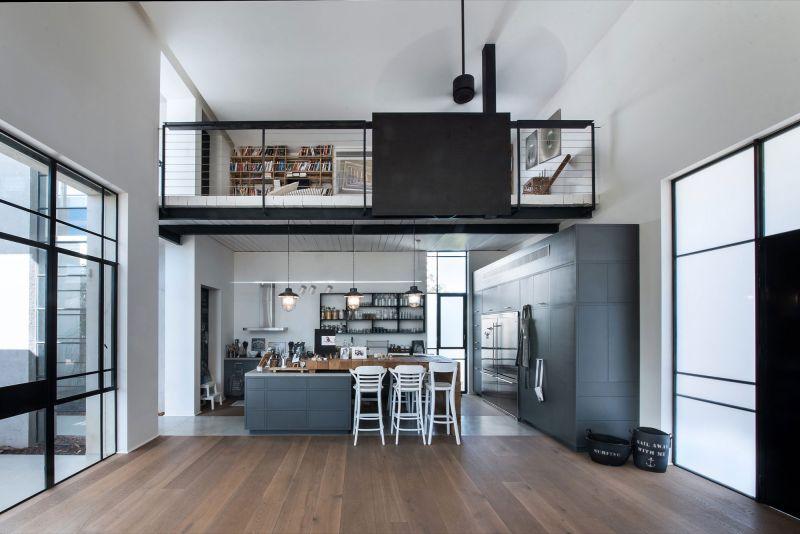 Savion Residence kitchen and studio