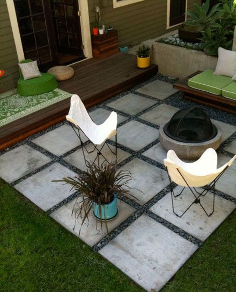 Simple backyard patio
