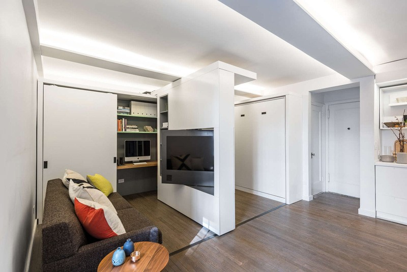 Apartments with movable walls inspire through flexibility for Amenagement chambre 10 m2